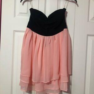 Super cute pink and black dress